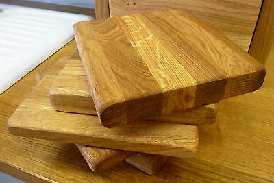 Small Solid Oak Oiled Chopping board - Handmade In Devon - 100% Solid Wood