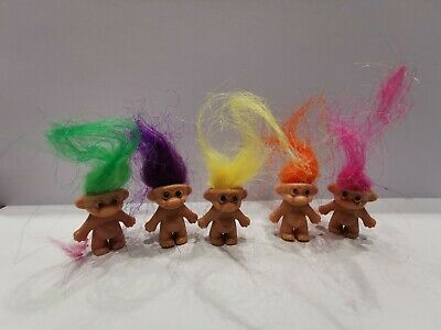 Mini or Lucky trolls, great toys for party bag fillers choose from 1,5,10,20,40