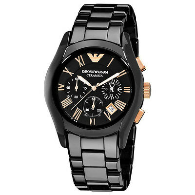 ** NEW **Emporio Armani® watch AR1410 Mens Black Ceramica