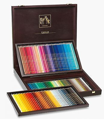 Caran Dache Pablo 120 Coloured Pencil Wooden Box Gift Set Artist Sketching Draw