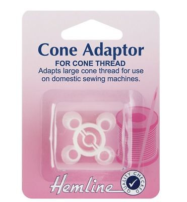 Hemline Cone Adapter Overlocker Sewing Machine Thread Holder Spool Pin Adapter