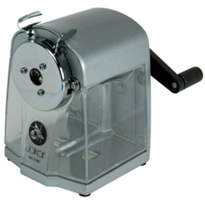Jakar Crank Desk Top Pencil Sharpener Heacy Duty Grey Metal Body Cutter 5160