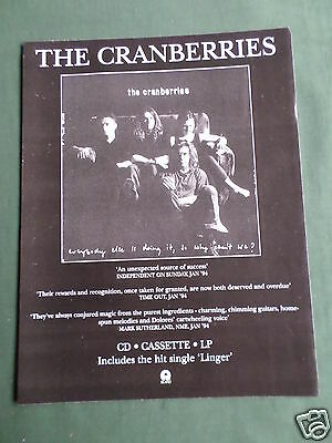 The Cranberries - Magazine Clipping / Cutting- 1 Page Advert