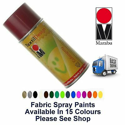 Bordeaux Fabric Spray Paint Marabu Textile Design 150ml Textil Clothes (034)