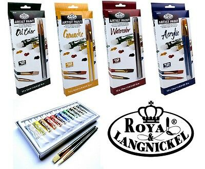 Royal Langnickel Artist Painting Set Paints Brush Gouache Watercolor Acrylic Oil