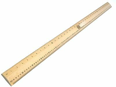 Wooden Meter Stick Yard Stick Ruler With Handle Imperial & Metric CM & Inches