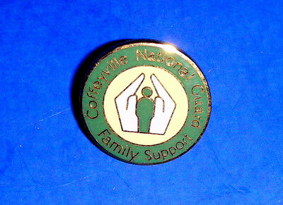 "Vintage ""Coffeyville National Guard Family Support"" Enameled Lapel Pin"