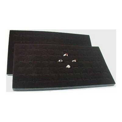 NEW 2 Jewelry 72 Slot Ring Foam Display Insert Pad black