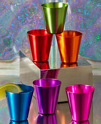 The Lakeside Collection Set of 6 Retro Aluminum Shot Glasses