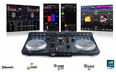 DJ Dual Mixing Decks Turntable Universal Music Controller Player Record Stand CD