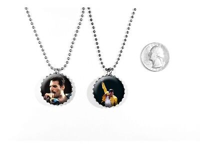 Freddie Mercury Queen Lead Singer Classic Rock 2 Sided Necklace