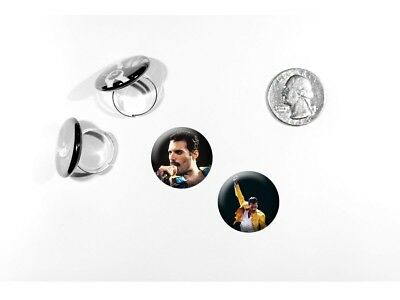 Freddie Mercury Queen Lead Singer Classic Rock 2 adjustable rings