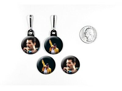Freddie Mercury Queen Lead Singer Classic Rock Zipper Pulls w/ Buttons