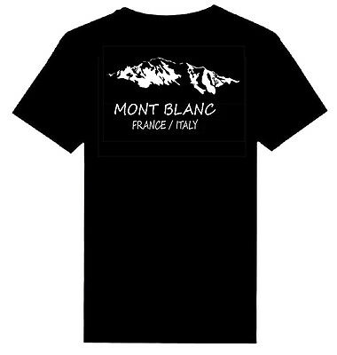 MONT BLANC MOUNTAIN  print Heavy Weight T-Shirts S - 5XL