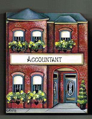 Brandywine Collectible Houses & Shops: ACCOUNTANT CPA Office - Shelf Sitter