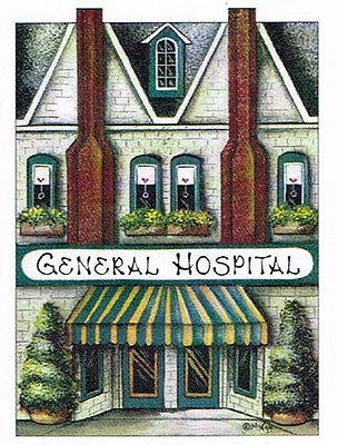 Brandywine Collectible Houses & Shops: GENERAL HOSPITAL Wooden Shelf Sitter