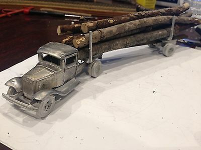 ULRICH O SCALE 1/48 On3 On30  FORD CAB & LOGGING TRAILER  NARROW GAUGE ALL METAL