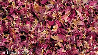100g Sun Dried Rose Flower Petals Edible Natural Organic Soap Food Free Ship