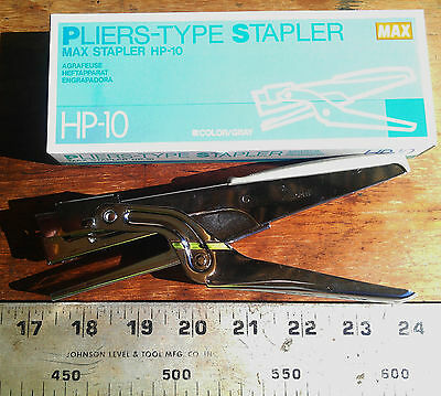MAX HP-10 Pliers Type Office Commercial Warehouse Stapler stapling pliers