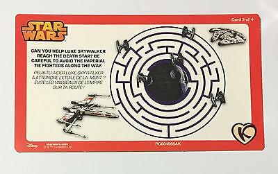 Star Wars Maze Game Card 3 of 4 Kinnerton Chocolate