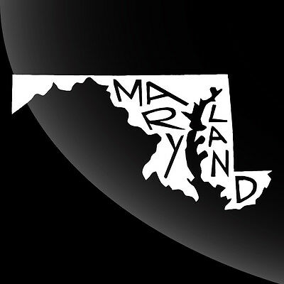 Maryland MD State Pride Decal Sticker - TONS OF OPTIONS