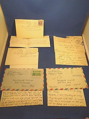 Lot of Vintage WWII Era through 1950s Letters French and American Letters