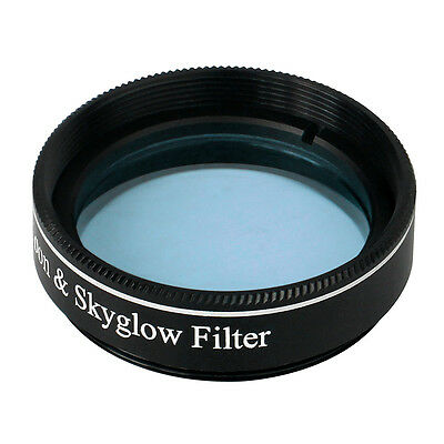"New Moon&Skyglow Light Pollution Filter 1.25"" for Telescope Eyepiece Blue Lens"