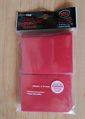 Ultra Pro Solid Red 100 Card Sleeves Set 100 Fundas Solid Rojas  New