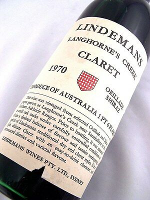 1970 LINDEMANS Oeillade Shiraz Claret B Isle of Wine