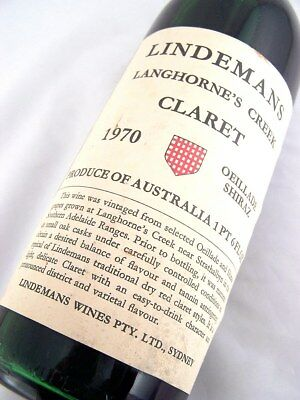 1970 LINDEMANS Oeillade Shiraz Claret G Isle of Wine