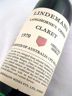 1970 LINDEMANS Oeillade Shiraz Claret I Isle of Wine