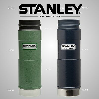 Stanley Classic One Hand Vacuum Travel Mug 473ml Green / Navy