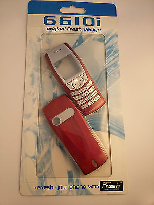 Nokia 6610i - Red Front and Back Cover / Fascia , NEW , bargain