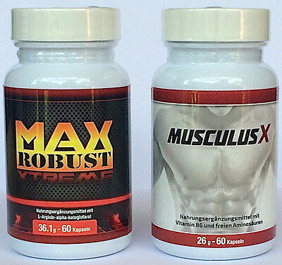 Max Robust Xtreme & Musculus X Testosteron Booster