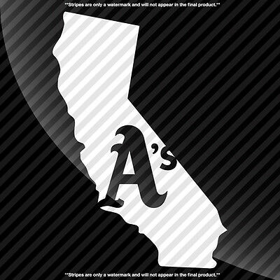 Oakland A's California CA State Pride Decal Sticker - TONS OF OPTIONS