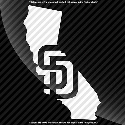 San Diego Padres California CA State Pride Decal Sticker - TONS OF OPTIONS