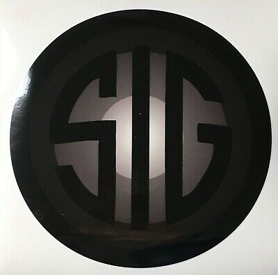 SIG Sauer Sticker, decal, Gray & Black, Firearms, Hunting, Stick on car, truck