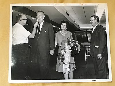 Lyndon B Johnson LBJ Inscribed 8x10 Photo B/W Signed Autographed