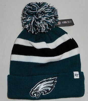 Philadelphia Eagles '47 Brand Winter Pom Pom Hat Youth Acrylic Knit Nwt Green