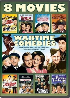 Wartime Comedies: 8 Movie Collection [New DVD] 2 Pack, Snap Case