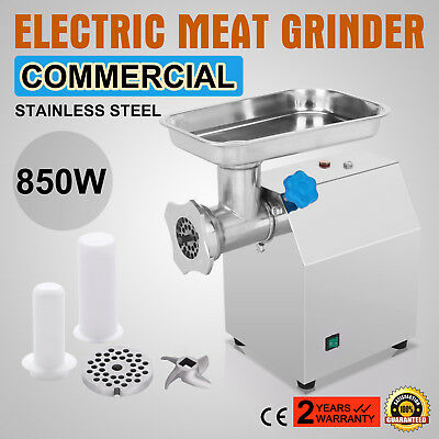 Stainless Steel Electric Meat Grinder Commercial Blades Mincer Sausage Maker
