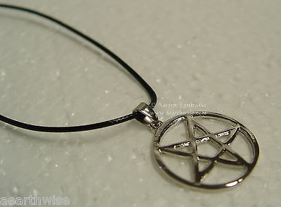 1 x INVERTED PAN PENTAGRAM PENDANT & CORD Wicca Pagan Witch Goth PENTACLE
