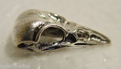 1 x SILVER SKULL PENDANT - AMULET TALISMAN 30 x 15 mm Wicca Pagan Witch