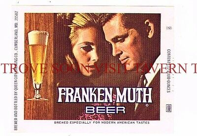 1960s IRTP Frankenmuth Lovers Cumberland Maryland 12oz Beer Label Tavern Trove