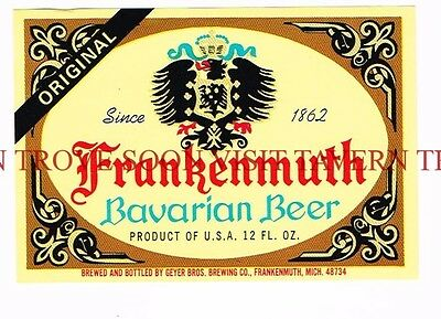 1960s Frankenmuth Bavarian Beer 12oz Beer Label Tavern Trove