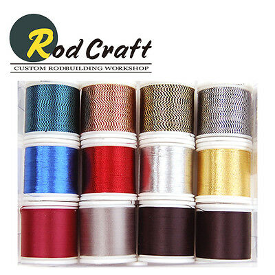 Lot of 12ea - Rodcraft Wrapping Thread Assortment for Rod Building (WK-001)