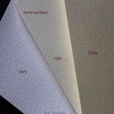 100 A4 sheets of Hammered card (Ivory, Cream or White) 255GSM PRINTABLE