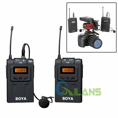 BOYA BY-WM6 UHF Lavalier Omni-Directional Wireless Microphone for DSLR 【AU】