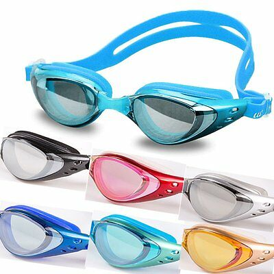 Cool Adult Kid Adjustable Swim Glasses Professional Anti Fog UV Swimming Goggles