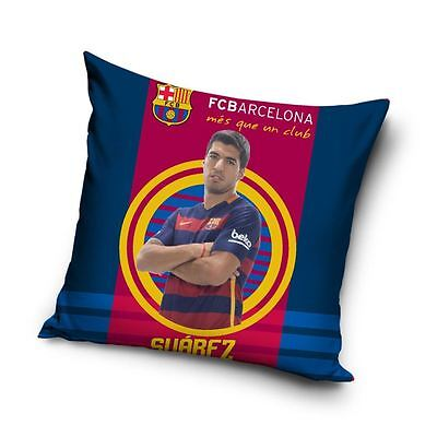 Fc Barcelona Suarez Target Cushion 40Cm X 40Cm Kids Bedroom Football Official